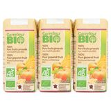 Carrefour Bio 100% Purs Fruits Pressés Jus Multifruits Bio 6 x 20 cl