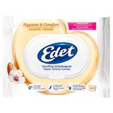 Edet Hygiene & Comfort Amandel Vochtig Toiletpapier 42 Stuks
