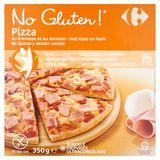 Carrefour No Gluten! Pizza au Fromage et au Jambon 350 g