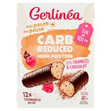 Gerlinéa Ma Pause Carb Reduced High Protein Saveur Framboise & Chocolat 12 x 31 g