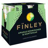 Fïnley Fines Bulles Saveur d'Ananas, Concombre & Menthe 6 x 250 ml