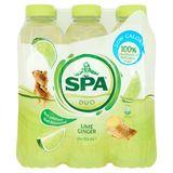 Spa Duo Citron Vert - Gingembre Non Pétillant PET 6 x 50 cl