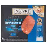 Labeyrie Saumon Fumé le Norvège -25% de Sel 130 g