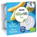 NaturNes BIO Poire-Banane dès 6 Mois 4 x 90 g