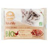 Carrefour Bio Stukjes in Saus Adult 4 x 100 g