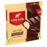 Côte d'Or Noir Advocaat Goût 4 x 47.5 g