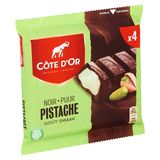 Côte d'Or Noir Pistache Goût 4 x 47 g