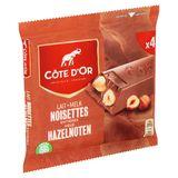 Côte d'Or Lait Noisettes Entières 4 x 45 g