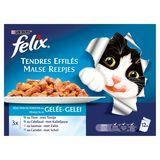 FELIX Kattenvoeding Malse Reepjes met Vis in Gelei 12 x 100 g