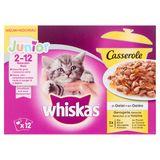 Whiskas Casserole Sélection à la Volaille en Gelée Junior 2-12 Mois 12 x 85 g