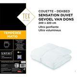 Tex Home Couette 240x220 cm Sensation Duvet Tempérée