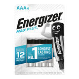 Energizer Max Plus Piles Alcalines AAA 4 pièces
