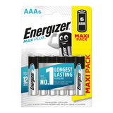 Energizer Max Plus Piles Alcalines AAA 6 pièces