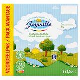Joyvalle Lait AA Demi-Écrémé Pack Avantage 8 x 1.5  L