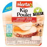 Herta Kip Gerookt op Beukenhout Zonder Nitrieten 4 Sneden 100 g