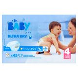 Carrefour Baby Ultra Dry 4 Maxi 7-18 kg 45 Couches