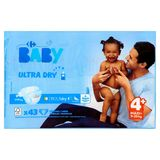 Carrefour Baby Ultra Dry 4+ Maxi+ 9-20 kg 43 Couches