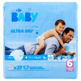 Carrefour Baby Ultra Dry 6 X Large +16 kg 27 Couches