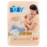 Carrefour Baby Soft & Protect 2 Mini 3-6 kg 60 Couches