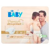 Carrefour Baby Premium Ultra Protect 5 Junior 11-25 kg 36 Luiers