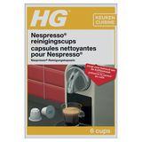 HG Capsules Nettoyantes pour les Machines Nespresso 6 x 3 g