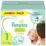 Pampers Premium Protection Maat 1, Luiers x96, 2kg-5kg