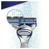 Gillette SkinGuard Peaux Sensibles Lames De Rasoir Homme 8Recharges
