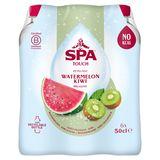 SPA TOUCH Watermelon Kiwi Gearomatiseerd Water Bruisend PET 6 x 50 cl