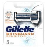 Gillette SkinGuard Peaux Sensibles Lames De Rasoir Homme 5Recharges