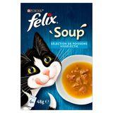 FELIX Soup Kattenvoeding Visselectie 6 x 48 g