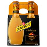 Schweppes Premium Mixers Orange & Lychee 4 x 20 cl