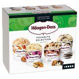 Häagen-Dazs Crème glacée Favorite Selection Mini cups 4x95ml