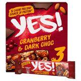 Notenreep YES! Cranberry & Pure Chocolade 3 x 35 g
