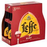 Leffe Bière Belge d'Abbaye Ruby Bouteilles 8 x 33 cl
