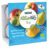Nestlé NaturNes Bio Appel Peer Kweepeer vanaf 4+ Maanden 4 x 90 g