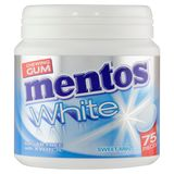Mentos Chewing Gum White Sweet Mint 75 Pièces 112.5 g