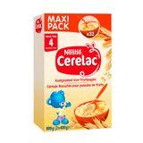Cerelac Céréale Biscuitée pour Panades de Fruits dès 4+ Mois Maxi Pack 2 x 400 g