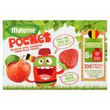 Materne Pocket Belgische Appel + Aardbeien 6 x 90 g