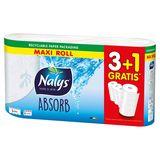 Nalys Absorb Keukenpapier 4 Maxi Rollen 3+1 Gratis
