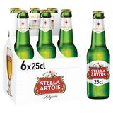 Stella Artois Belgium Premium Lager Beer Bouteilles 6 x 25 cl