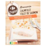 Carrefour Original Brasserie Filet de Saumon Sauce Beurre Blanc & Riz Basmati 410 g