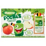 Materne Pocket Belgische Appel 6 x 90 g