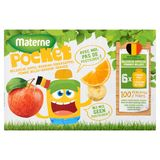 Materne Pocket Pomme Belge + Banane + Orange 6 x 90 g