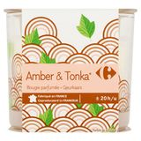 Carrefour Amber & Tonka Bougie Parfumée 100 g