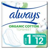 Always Cotton Protection Taille1 Serviettes Avec Ailettes X12
