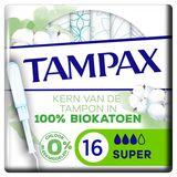 Tampax Cotton Protection Super Tampons Avec Applicateur x16
