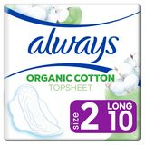 Always Cotton Protection Taille2 Serviettes Avec Ailettes x10