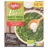 Iglo Gehakte Spinazie met Room Bio 450 g
