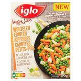 Iglo Veggie Love Asperges Carottes Petits-Pois au Beurre Persillé 300 g