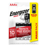 Energizer Max Piles Alcalines AAA 8 pièces
